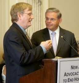 Richard W. Brown of the NJ Advocacy Network and Senator Menendez at the 2nd Annual Congressional Reception