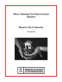Mercer Alliance Housing First Report