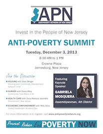 NJ Anti-Poverty Summit December 3rd