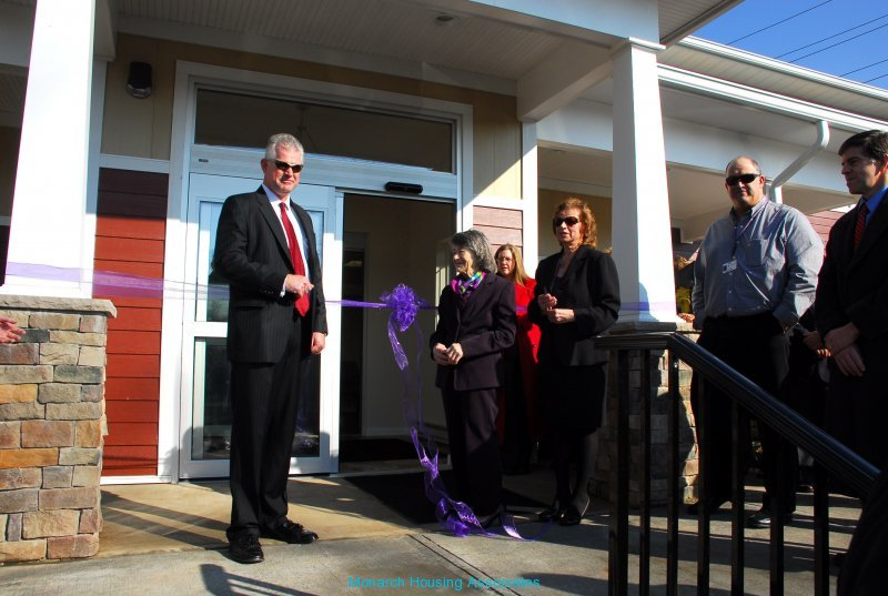 Inviting funders to cut ribbon