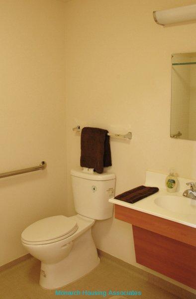 Unit bath with dual flush toilet
