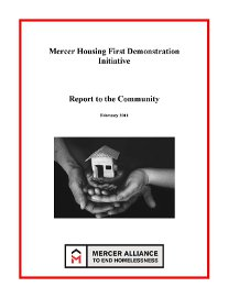 Mercer Alliance Housing First Report