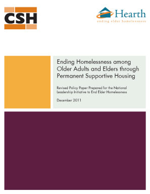 Ending Homelessness among Older Adults and Elders through Permanent Supportive Housing