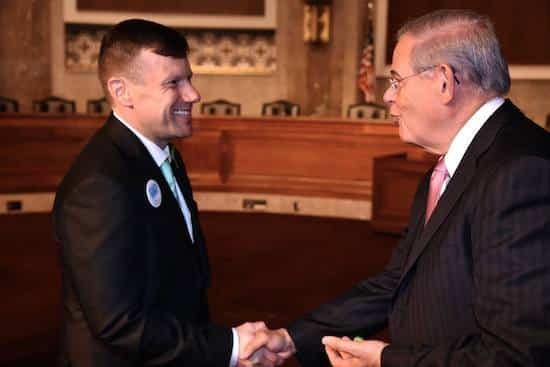 Brian Kulas and Senator Robert Menendez