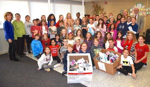 Clark Students Collect Hundreds of Socks for Homeless Sabbath