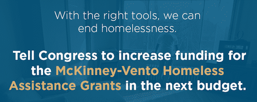 Increase Funding for McKinney-Vento Homeless Assistance Grants in Next Budget